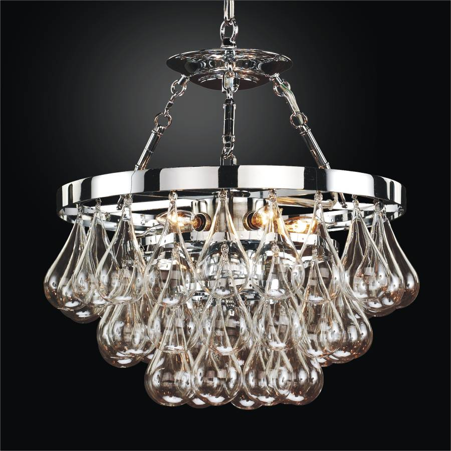 hand blown glass chandelier concorde 615 glow lighting