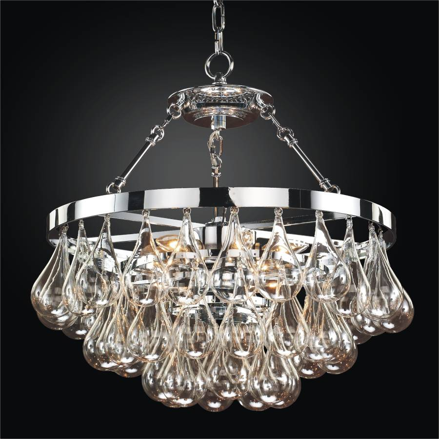 hand blown glass chandelier concorde 615 glow lighting. Black Bedroom Furniture Sets. Home Design Ideas