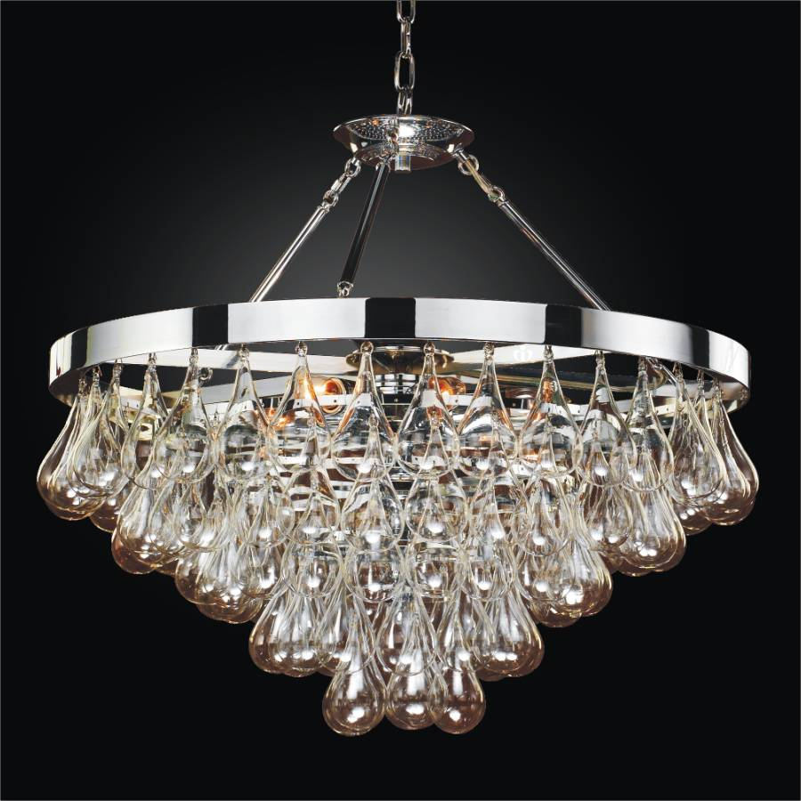 Blown Glass Chandelier | Concorde 615 by GLOW Lighting