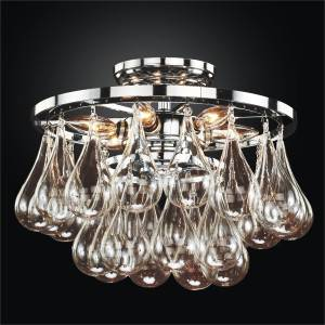 Blown Glass Ceiling Light | Concorde 615 by GLOW Lighting