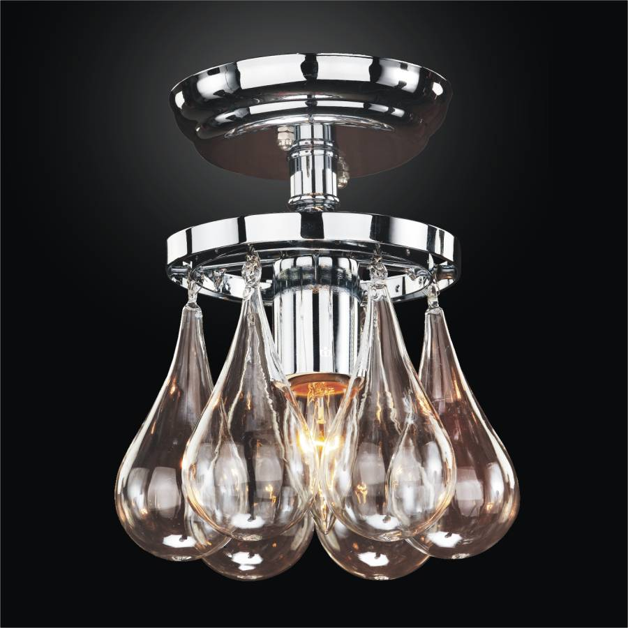 Blown Glass Ceiling Light Concorde 615 Glow 174 Lighting