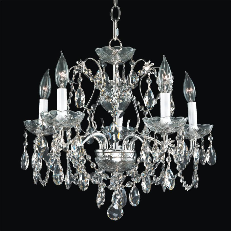 Dining room crystal chandelier crown jewel 537 glow lighting - Crystal chandelier for dining room ...