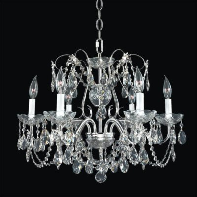 Metal Scroll Crystal Chandelier | Crown Jewel 537
