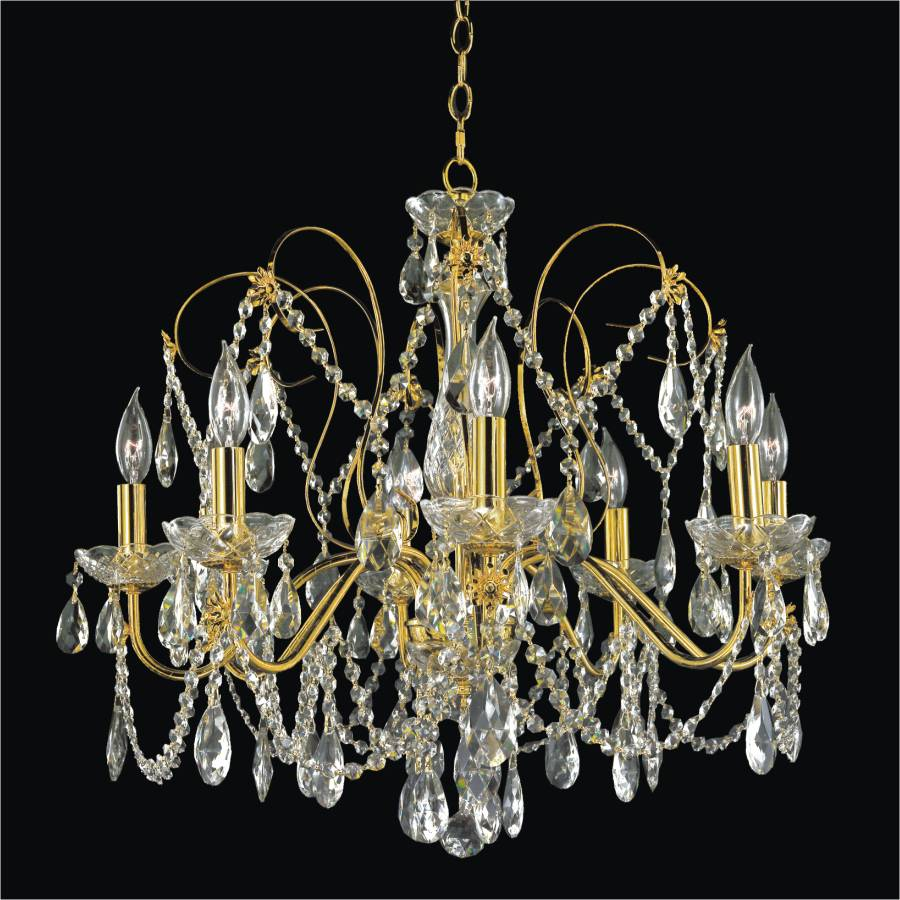 Dining Room Crystal Chandelier | Crown Jewel 537 by GLOW Lighting