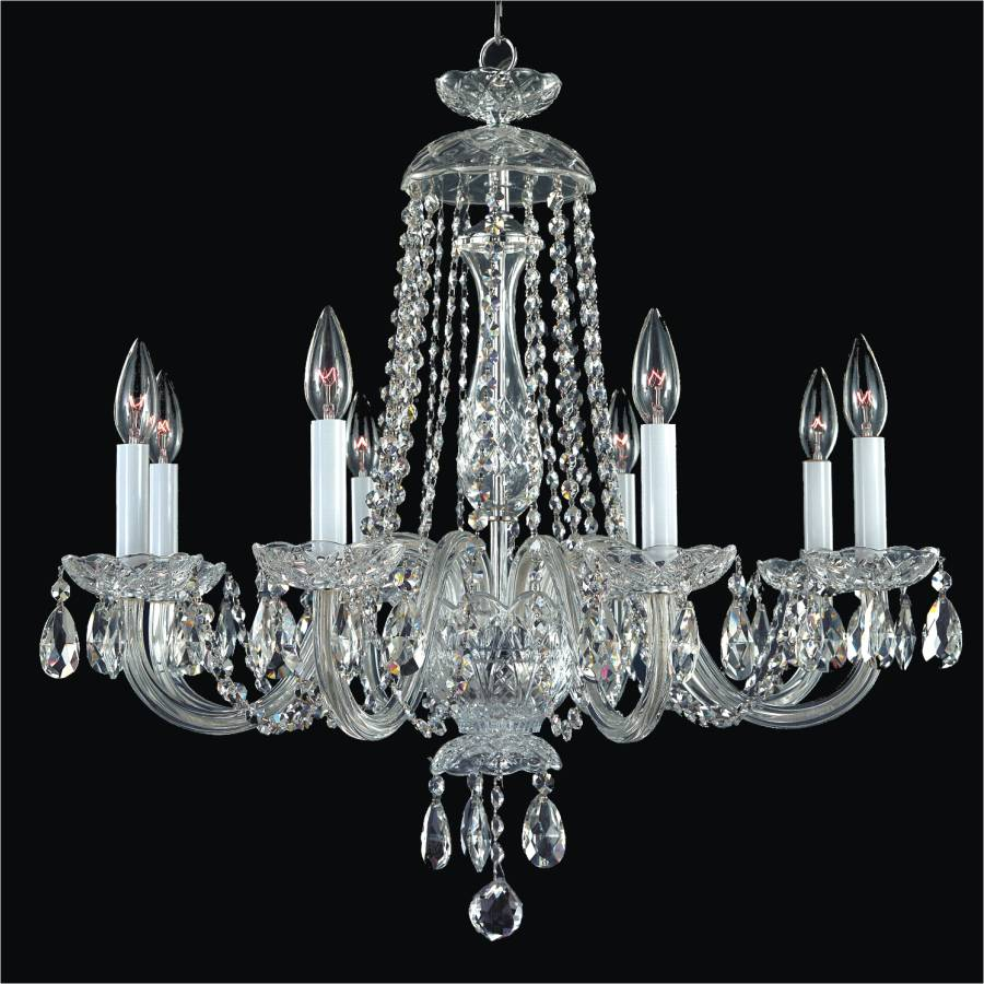 Crystal dining room chandelier crystal by candlelight 542 glow lighting - Crystal chandelier for dining room ...