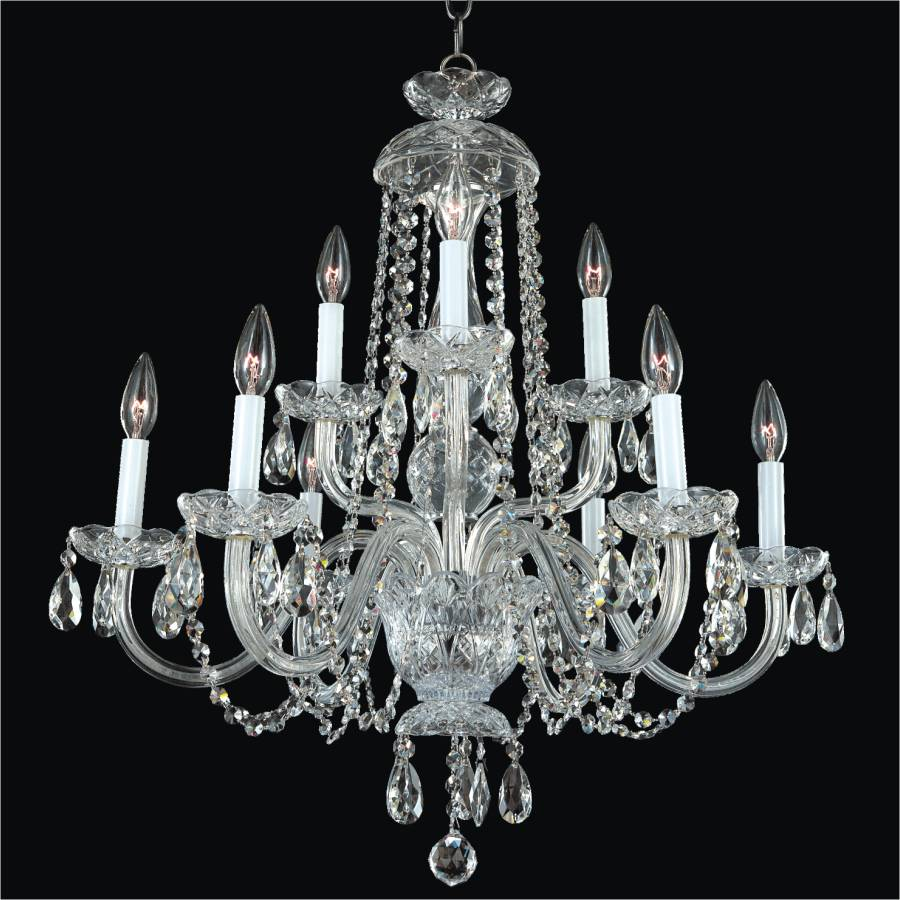 Crystal dining room chandelier crystal by candlelight 542 glow lighting - Dining room crystal chandelier ...