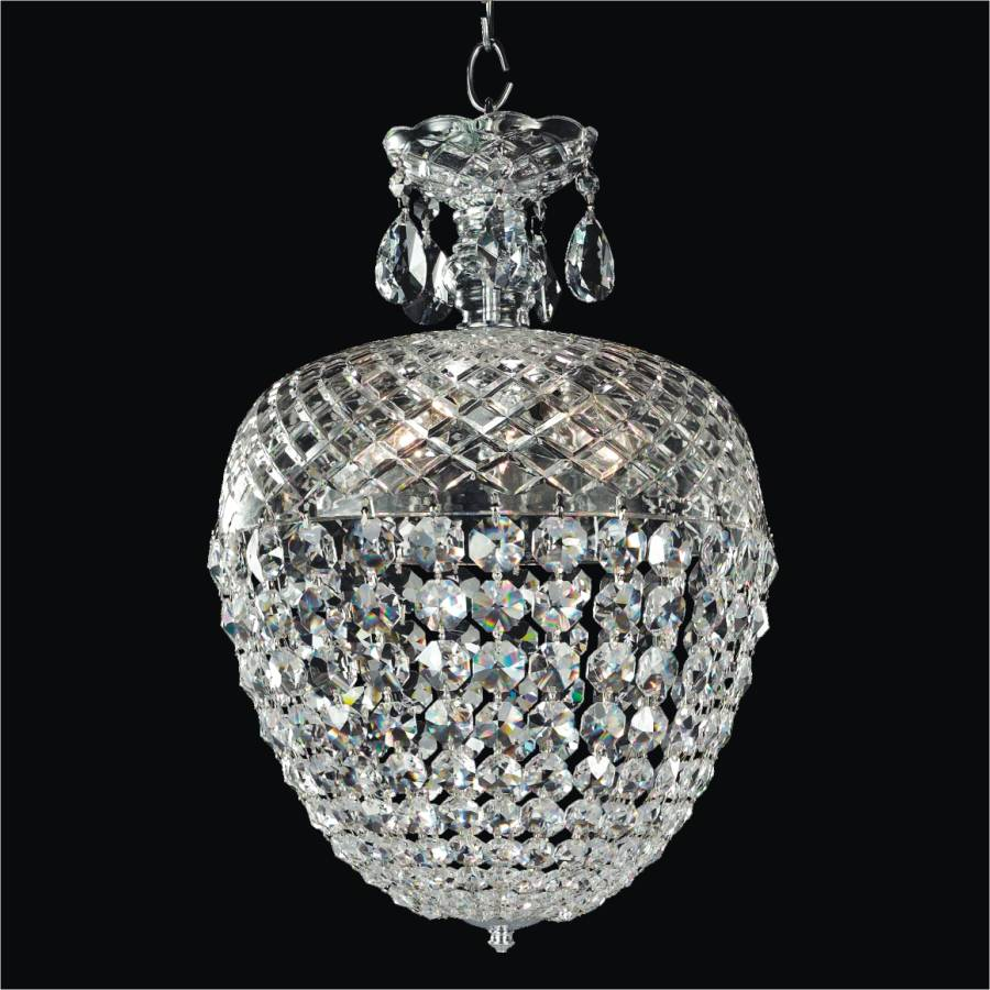 Crystal Acorn Small Chandelier | Crystal by Candlelight 542 by GLOW Lighting