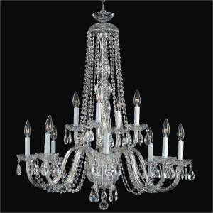 Big Crystal Chandelier | Crystal by Candlelight 542 by GLOW Lighting