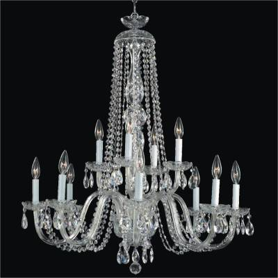 Large Foyer Crystal Chandelier | Crystal by Candlelight 542