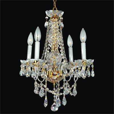 Crystal Arm Gold Frame Crystal Chandelier | Crystal Palace 550