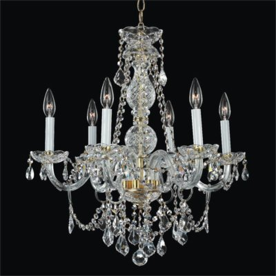 Gold Finish Crystal Arm Chandelier | Crystal Palace 550