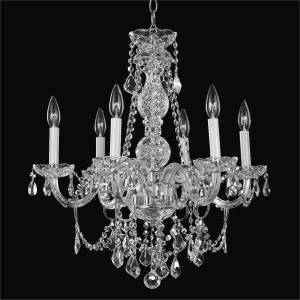 Crystal Chandelier Dining Room | Crystal Palace 550 by GLOW Lighting
