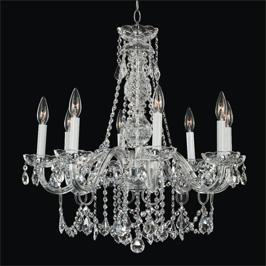 Crystal chandelier dining room crystal palace 550 glow lighting - Dining room crystal chandelier lighting ...