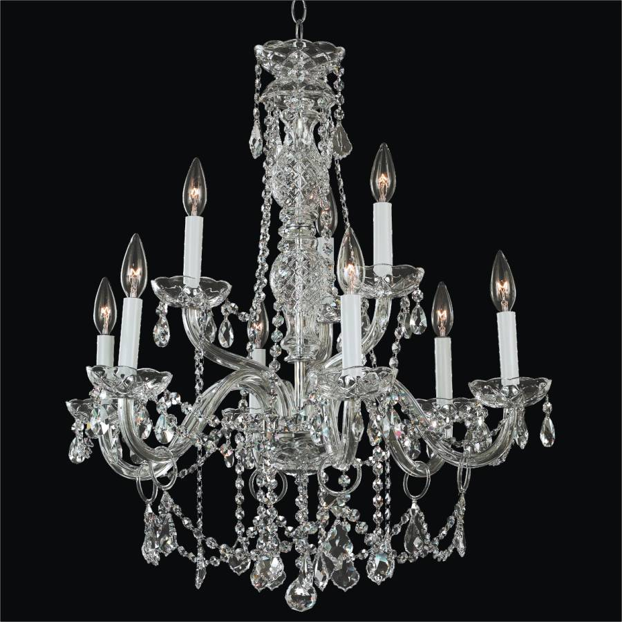 Crystal chandelier dining room crystal palace 550 glow lighting - Lighting and chandeliers ...