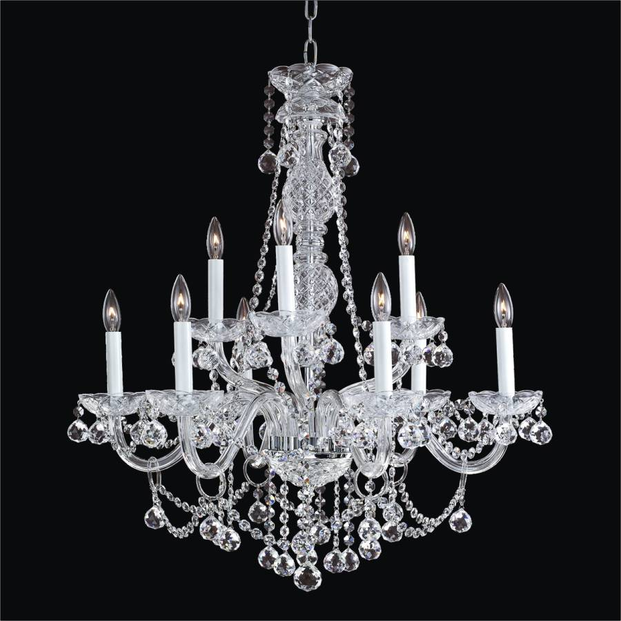 Traditional Crystal Chandelier | Crystal Palace 550F by GLOW Lighting