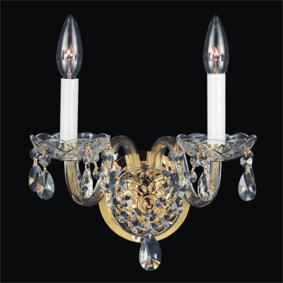 Crystal Arm Wall Sconces Crystal Palace GLOW Lighting