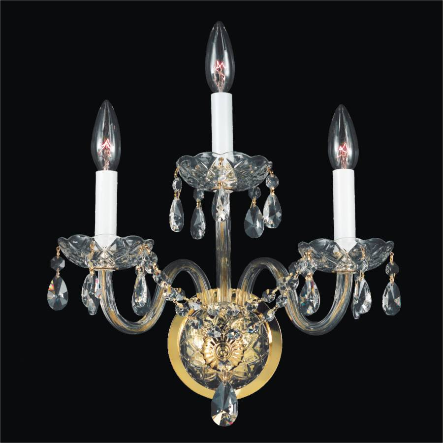 Wall Sconce Crystal Lighting : Crystal Arm Wall Sconces Crystal Palace GLOW Lighting