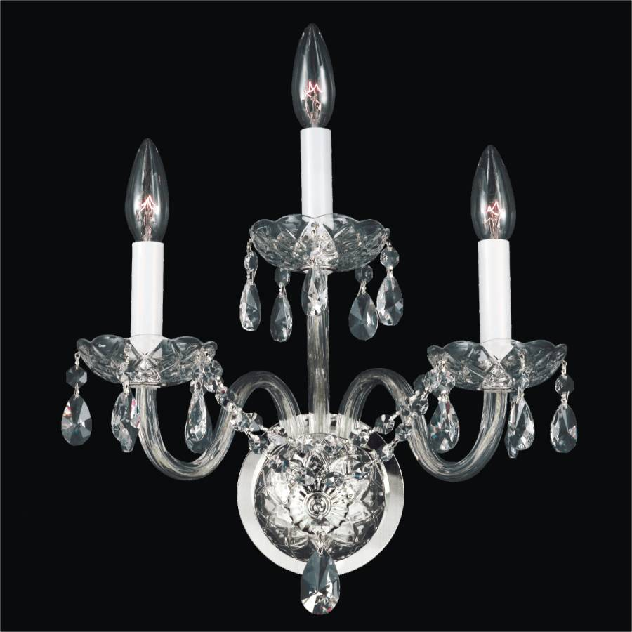Crystal Palace 550aw Wall Sconces 1 3 Lights Glow Lighting