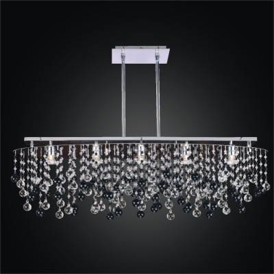 Black and White Chandelier – Oval Crystal Chandelier | Crystal Rain 565J