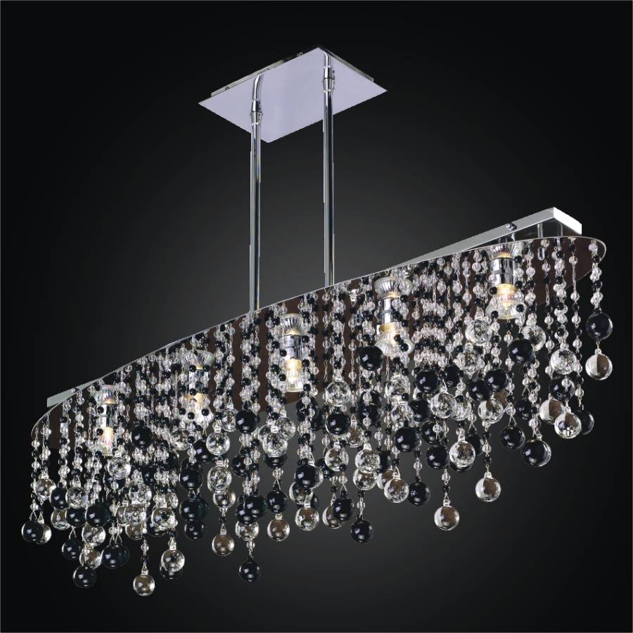 Black and White Crystal Chandelier | Crystal Rain 565J by GLOW Lighting
