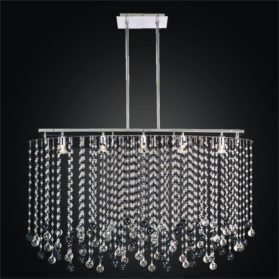 Black And White Crystal Chandelier Rain 565jm24sp 7j