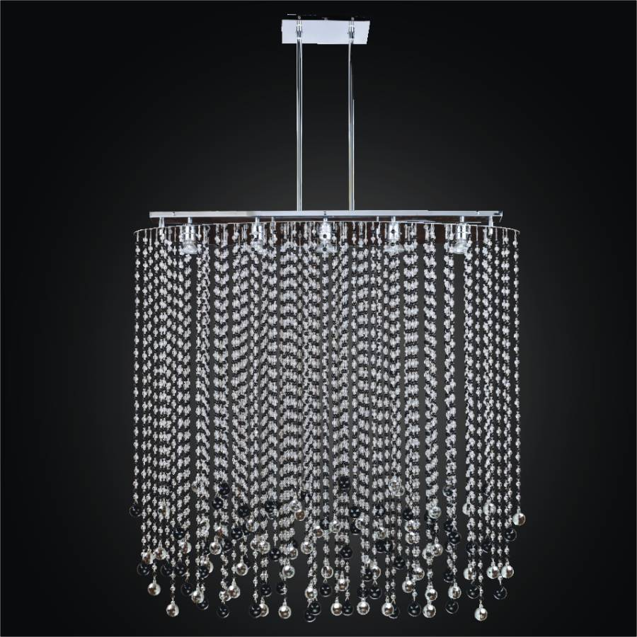 Black And White Crystal Chandelier Rain 565jm42sp 7j