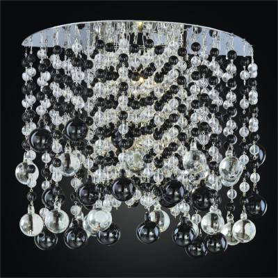 Beaded Wall Sconce – Black and White Sconce | Crystal Rain 566J