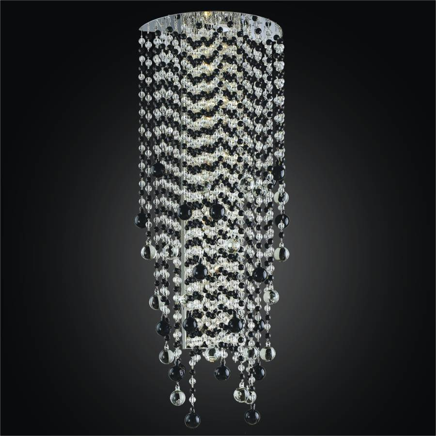 Black and White Sconce | Crystal Rain 566J by GLOW Lighting