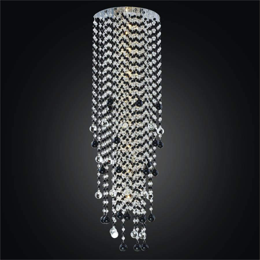 Black And White Sconce Crystal Rain 566j By Glow 174 Lighting