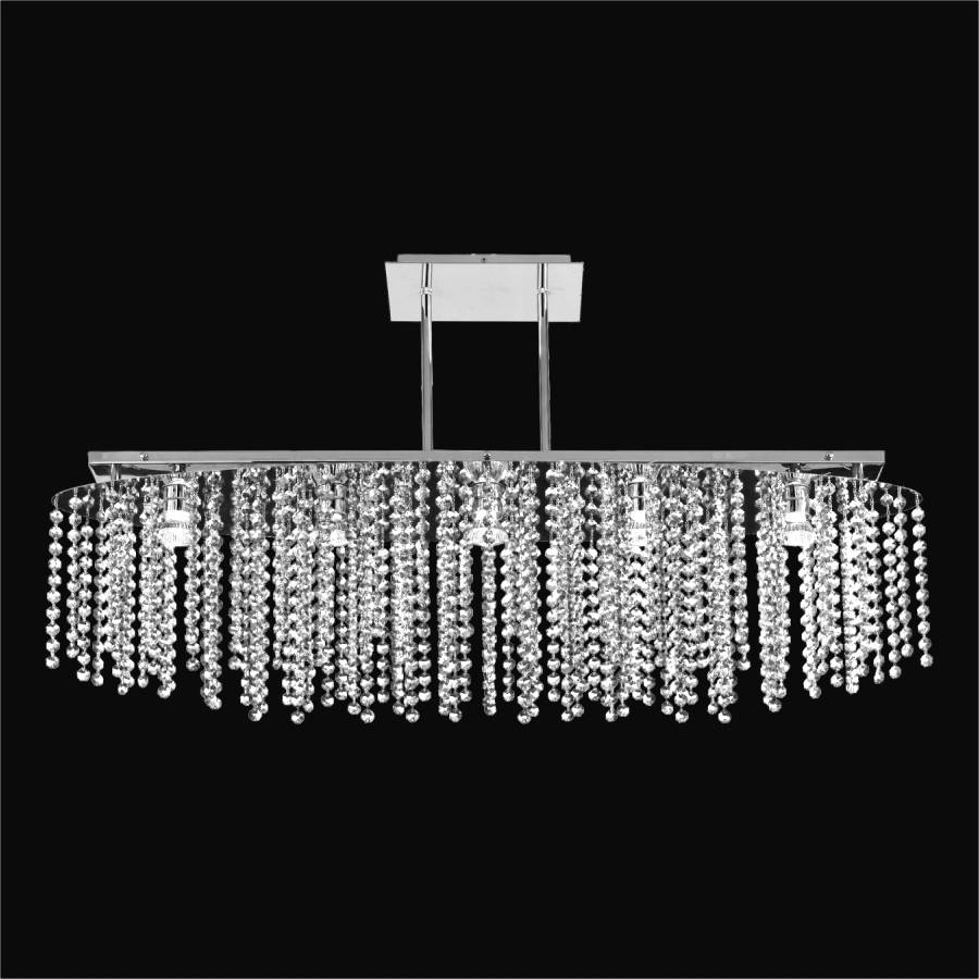 Oval Crystal Chandelier | Crystal Rain 565A by GLOW Lighting