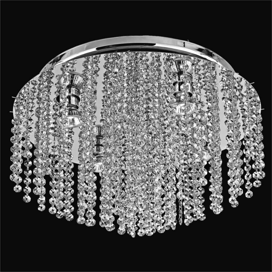 Crystal Ceiling Light Flush Mount | Crystal Rain 566 by GLOW Lighting