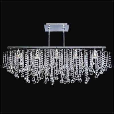 Oval Smooth Crystal Curtain  Pendant | Crystal Rain 565