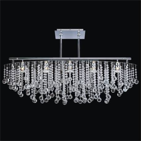 Crystal rain smooth crystal chandelier flush mount by GLOW Lighting