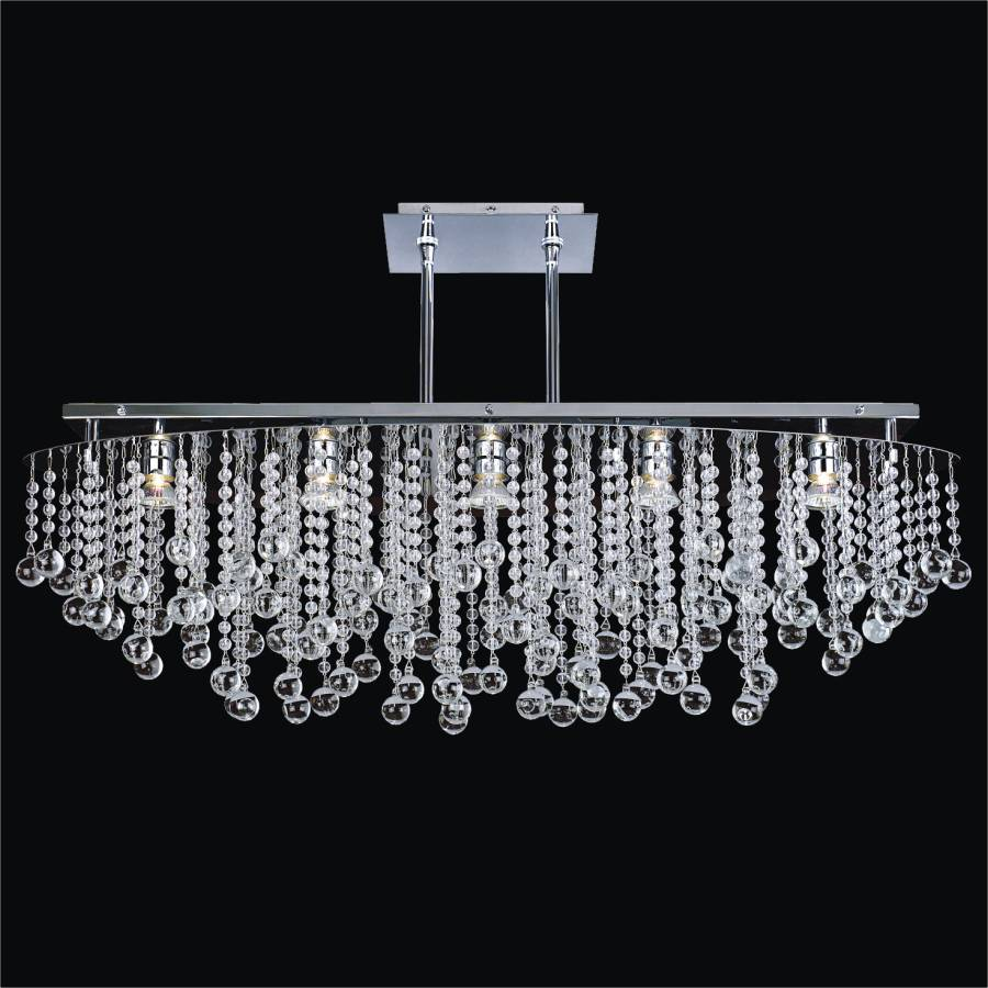 Crystal Rain Chandelier | Crystal Rain 565B by GLOW Lighting