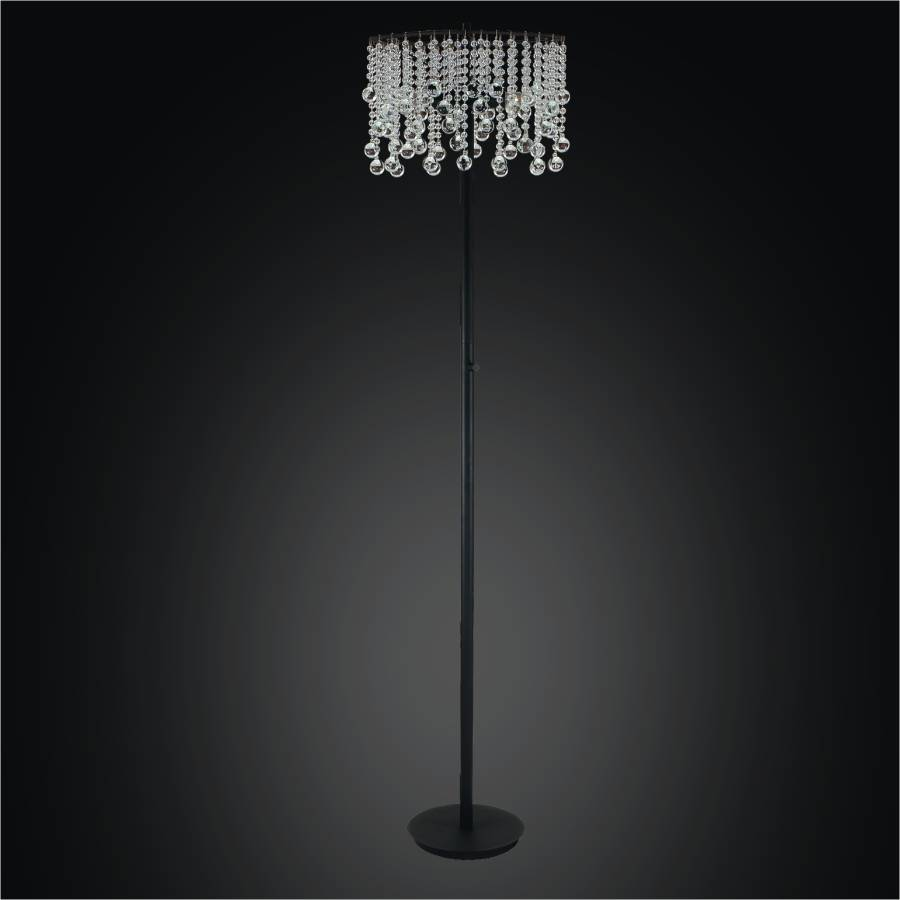 Crystal Bead Floor Lamp | Crystal Rain 566 by GLOW Lighting