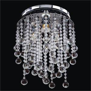 Beaded Flush Mount | Crystal Rain 566B by GLOW Lighting