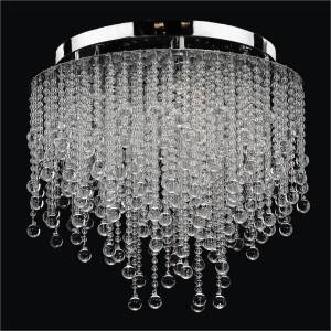Beaded Ceiling Light | Crystal Rain 566B by GLOW Lighting