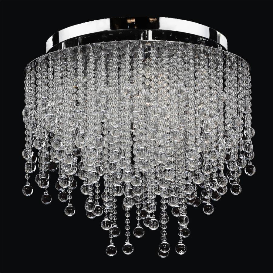 crystal flush mount chandelier. Crystal Rain Smooth Flush Mount By GLOW Lighting Chandelier S