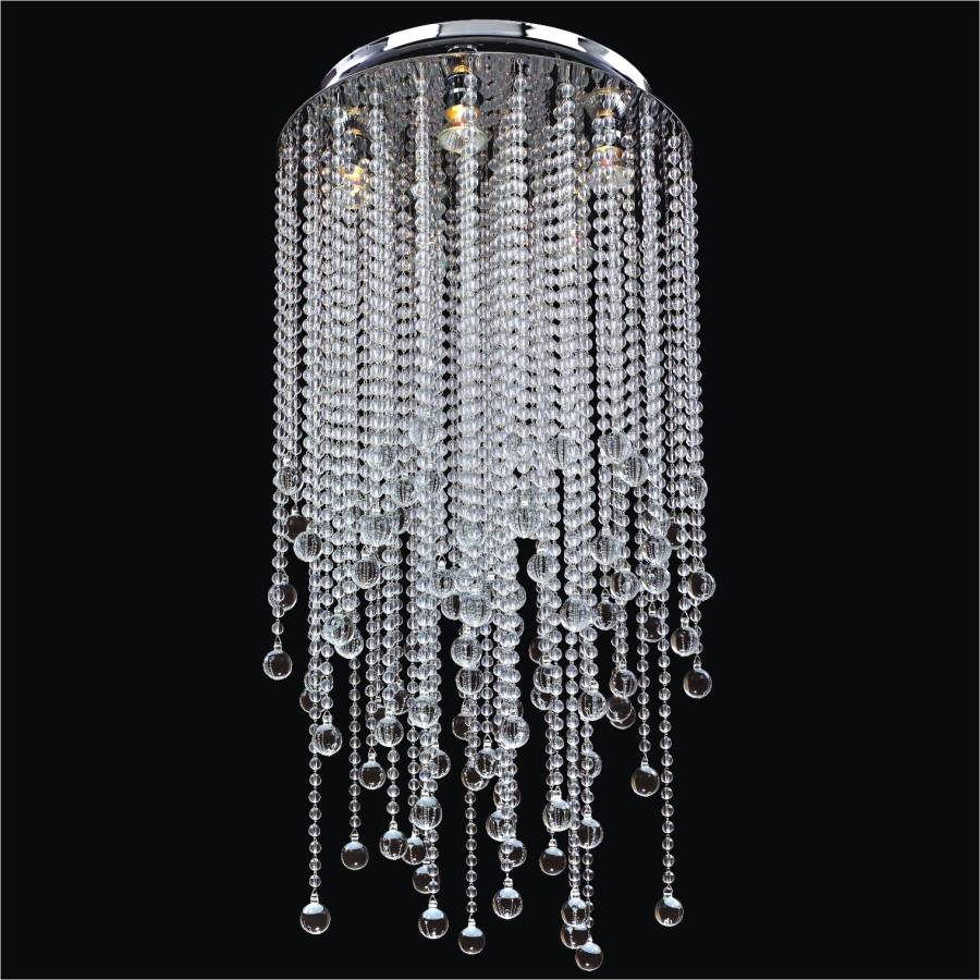 Beaded Light Fixture | Crystal Rain 566B By GLOW Lighting