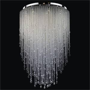 Beaded Flush Mount Chandelier | Crystal Rain 566B by GLOW Lighting