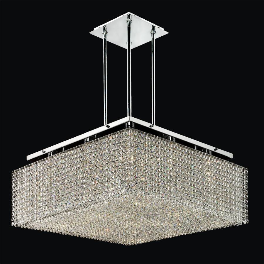 Square Crystal Chandelier Cube2 599 Glow 174 Lighting