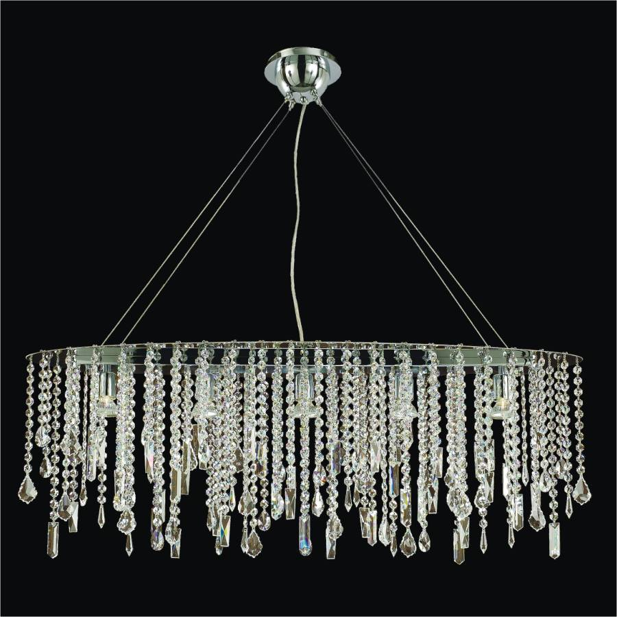 Crystal Drop Chandelier | Divine Ice 577 by GLOW Lighting