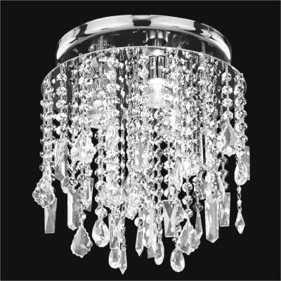 Crystal Flush Mount With Assorted Shape Crystal Trim | Divine Ice 577