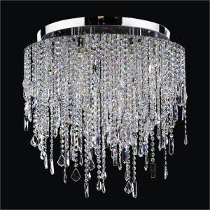 Crystal Flush Mount Light | Divine Ice 577 by GLOW Lighting