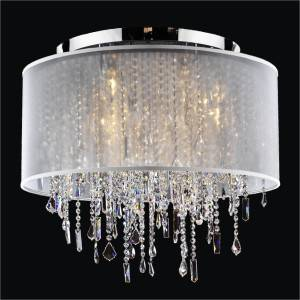 Drum Shade Ceiling Light | Divine Ice 577 by GLOW Lighting