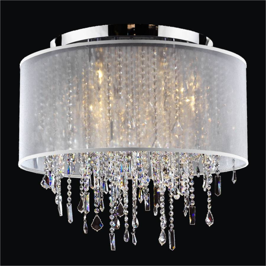 Drum Shade Ceiling Light  | Divine Ice 577MC6LSP-3C+SH005-S7-14W