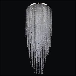 Flush Mount Crystal Chandelier | Divine Ice 577 by GLOW Lighting