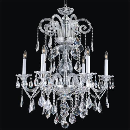 Dynasty crystal arm chandelier by GLOW Lighting