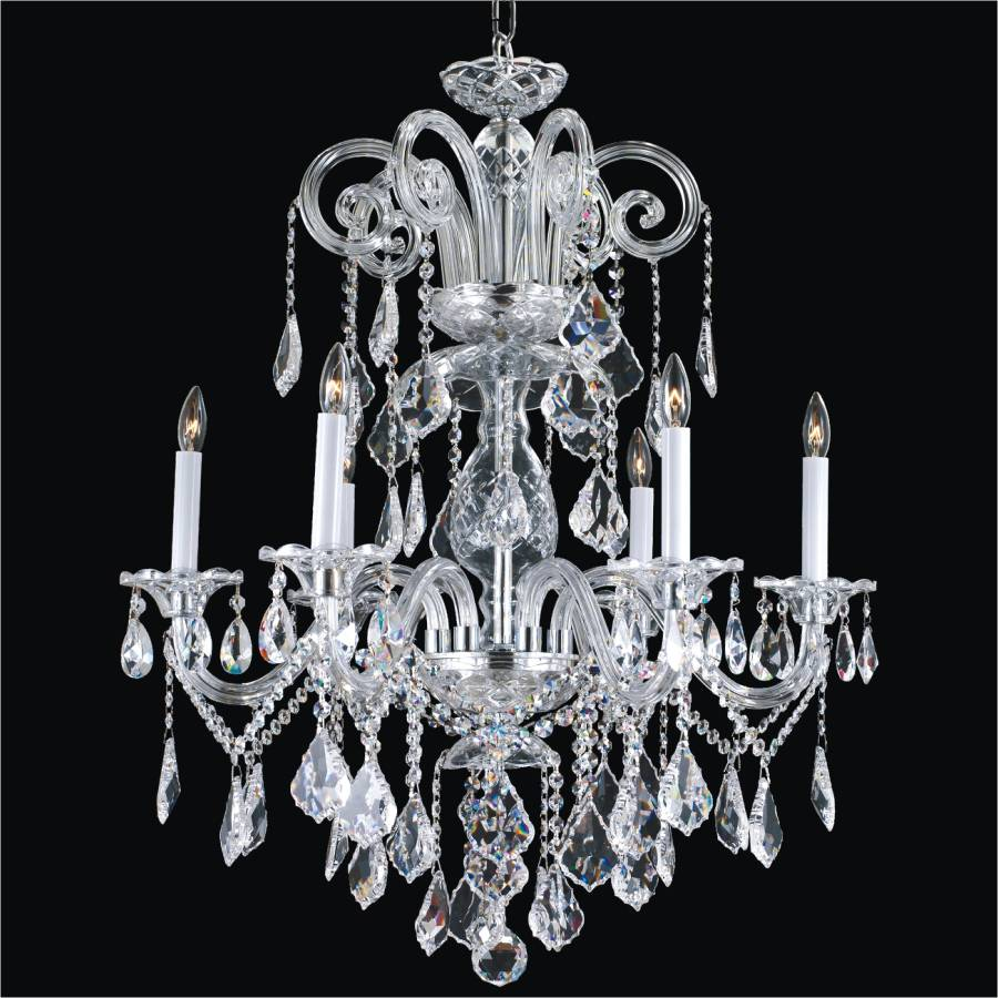 Crystal Dining Room Chandelier - Dynasty 557A by GLOW Lighting