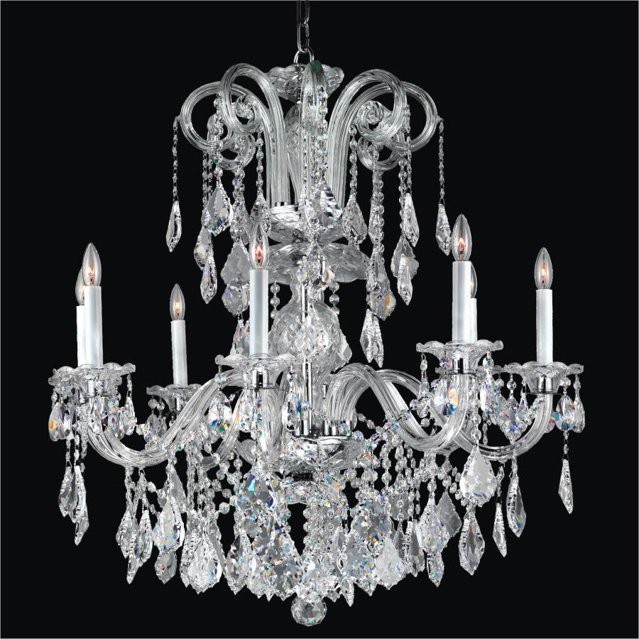 Crystal candle chandelier dynasty 557 glow lighting Crystal candle chandelier